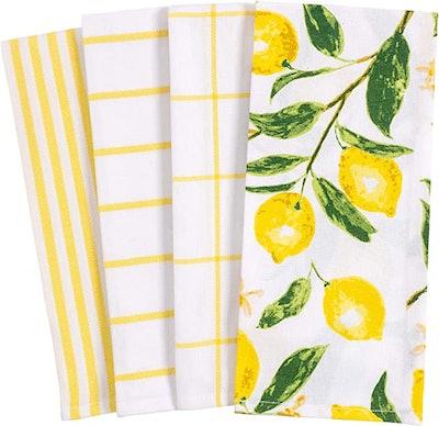 KAF Home Pantry Lemons All Over Kitchen Dish Towel (4-Piece)