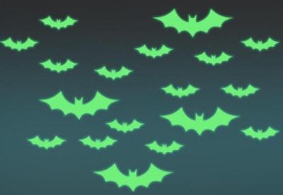 Glow in the dark bat stickers
