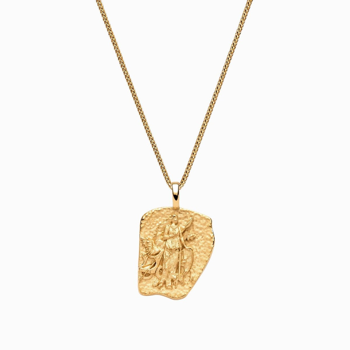 Freya gold vermeil necklace from charitable brand Awe Inspired.