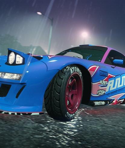 gta online los santos tuners blue car