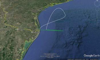 スーパーヘビーブースターの飛行計画。