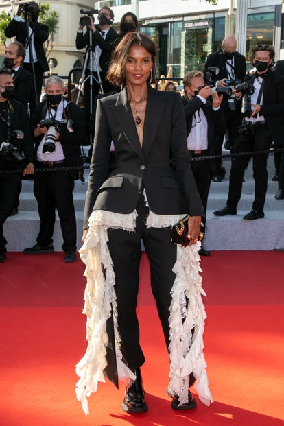 """Liya Kebede attends the final screening of """"OSS 117: From Africa With Love"""" and closing ceremony during the 74th annual Cannes Film Festival on July 17, 2021 in Cannes, France."""