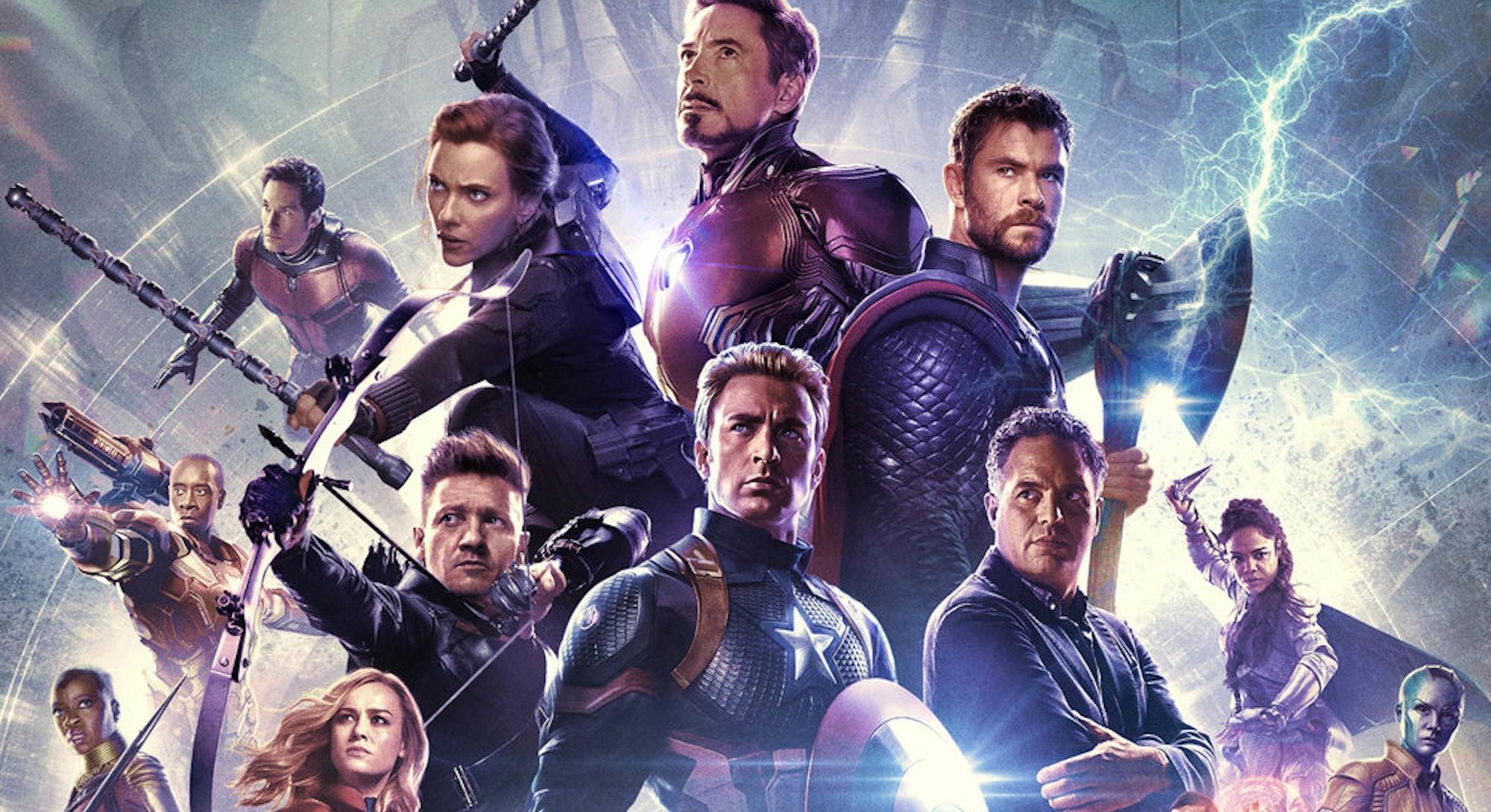 marvel's avengers endgame character lineup movie poster