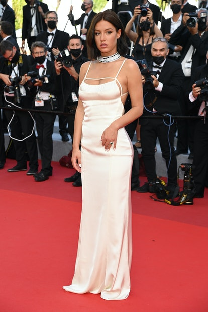 """Adèle Exarchopoulos attends the final screening of """"OSS 117: From Africa With Love"""" and closing ceremony during the 74th annual Cannes Film Festival on July 17, 2021 in Cannes, France."""