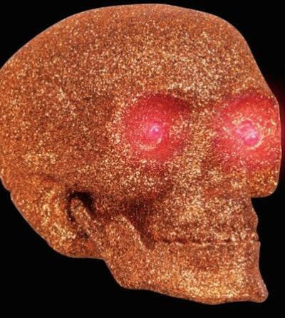 Glowing glitter skull