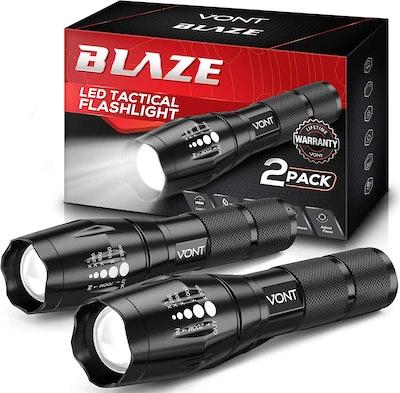 Vont LED Tactical Flashlights (2-Pack)