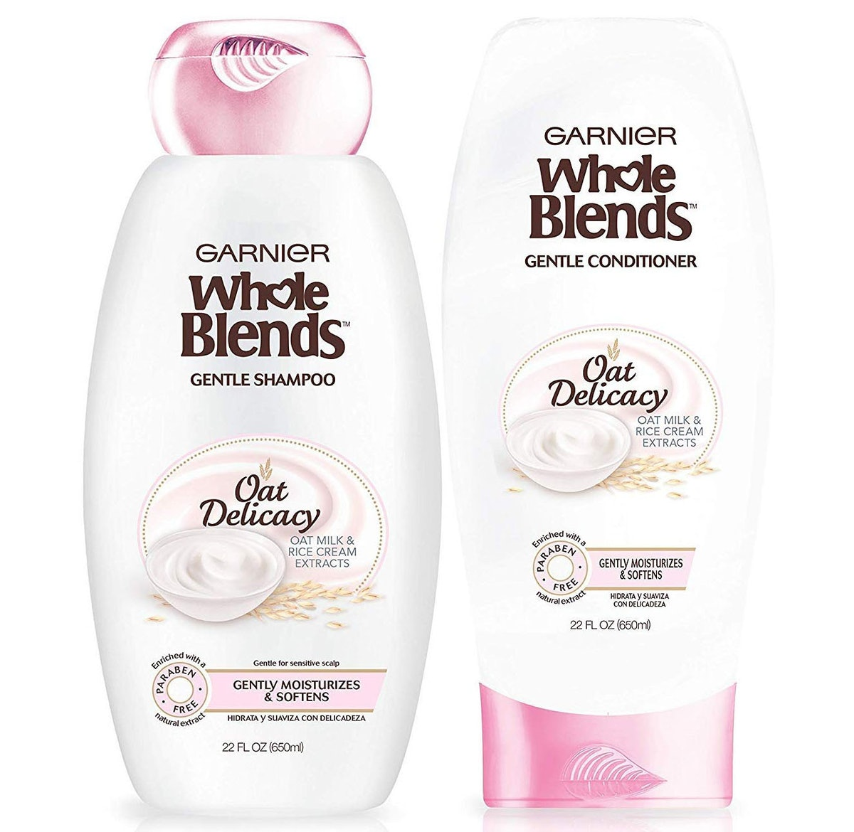 Garnier Whole Blends Oat Delicacy Moisturizing Shampoo and Conditioner