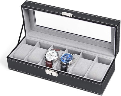 NEX 6 Slot Leather Watch Box