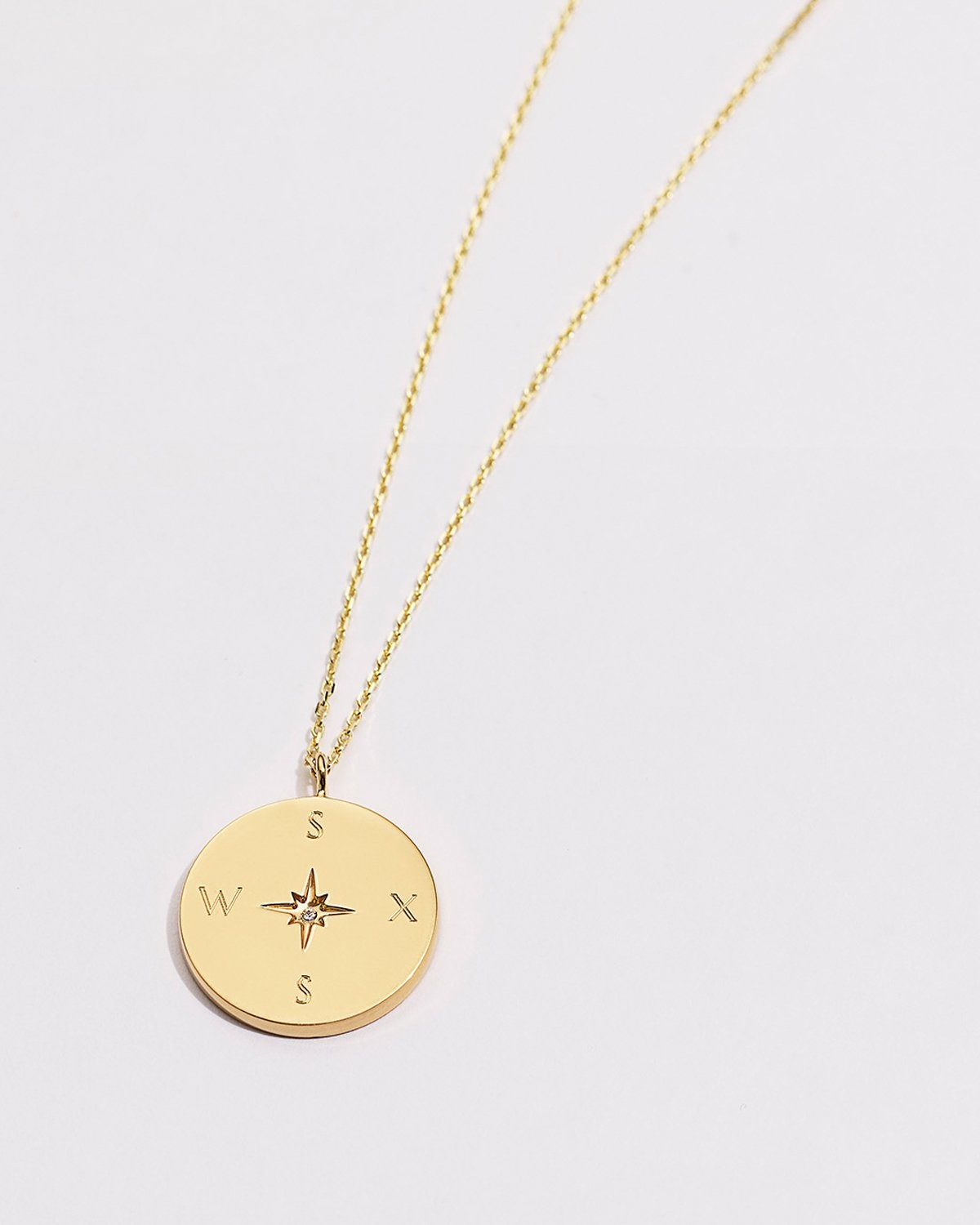 Love Compass gold vermeil necklace from Bryan Anthonys.