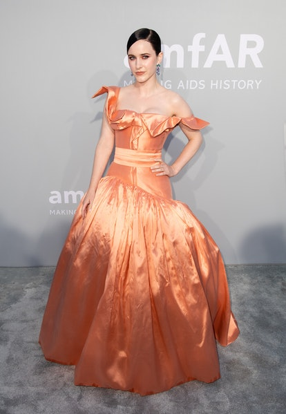 Rachel Brosnahan attends the amfAR Cannes Gala 2021 during the 74th Annual Cannes Film Festival at V...
