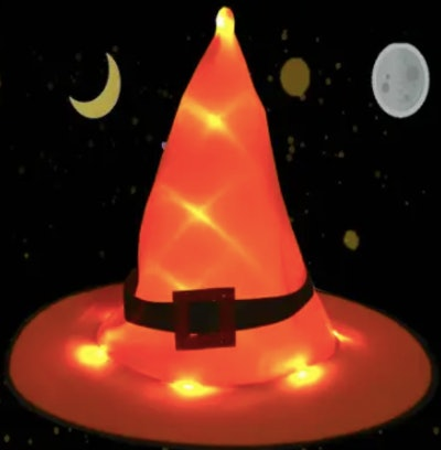 Glowing witches hat decoration
