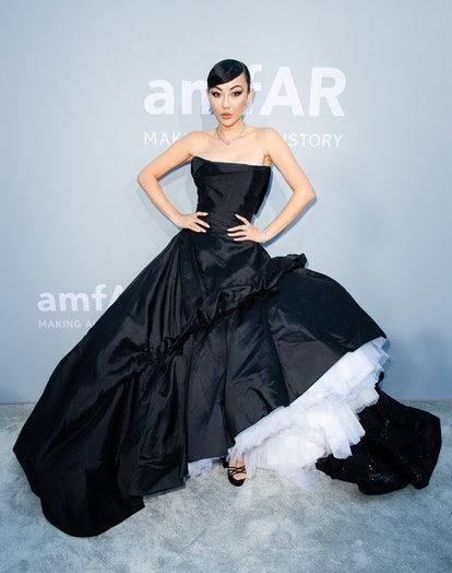 Jessica Wang attends the amfAR Cannes Gala 2021 during the 74th Annual Cannes Film Festival at Villa...