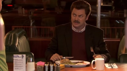 Ron Swanson is played by Nick Offerman.