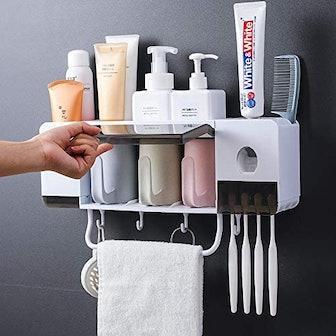 BHeadCat Toothpaste & Toothbrush Holder