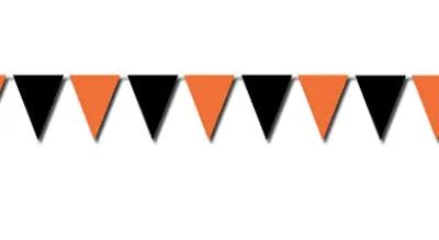 Black and orange penant garland