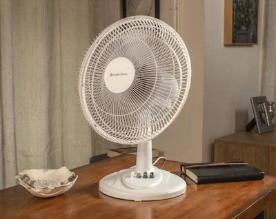 Comfort Zone 3-Speed 12-inch Oscillating Table Fan