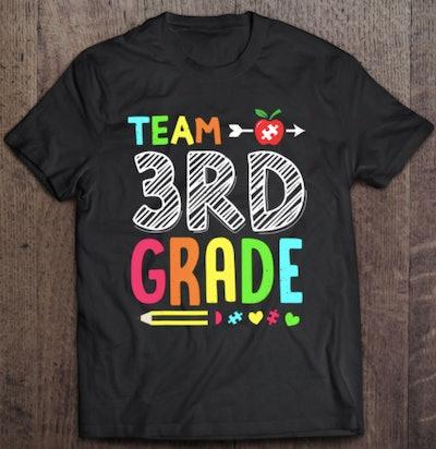 Team third grade shirt