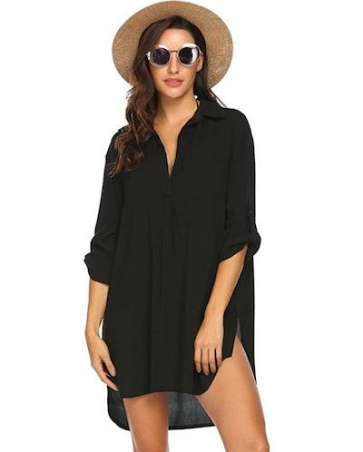 Ekouaer Swimsuit Cover Up Shirt