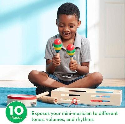 Melissa & Doug 10-Piece Musical Instrument Set
