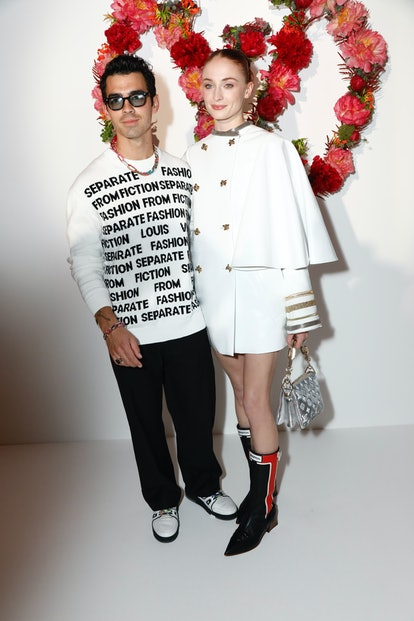 Joe Jonas and Sophie Turner attend the Louis Vuitton Parfum Dinner at Fondation Louis Vuitton on July 05, 2021 in Paris, France.