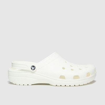 White Classic Clog Sandals