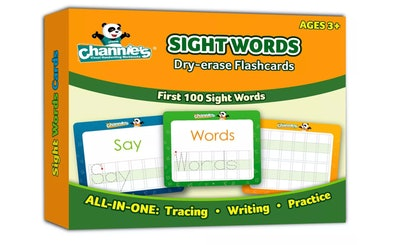Channie's Dry Erase Sight Words Flash Card