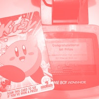 An incredibly rare Nintendo eReader Kirby Card  is up for auction