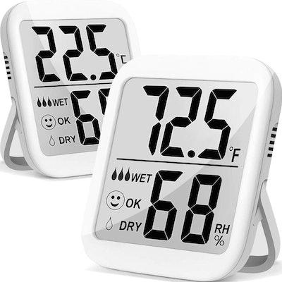 Antonki Indoor Humidity Meter (2 Pack)