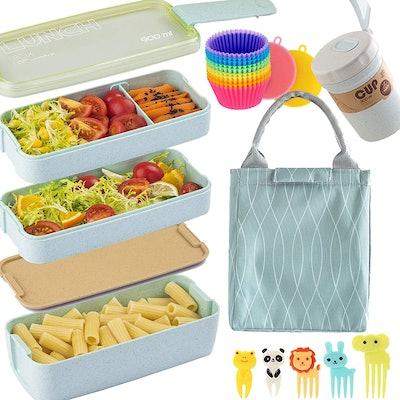 NUFR Bento Box Japanese Lunch Box Kit (16 PCS)