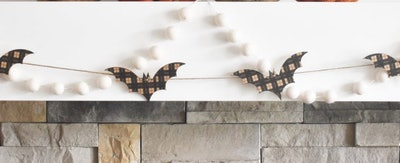 Plaid bat garland
