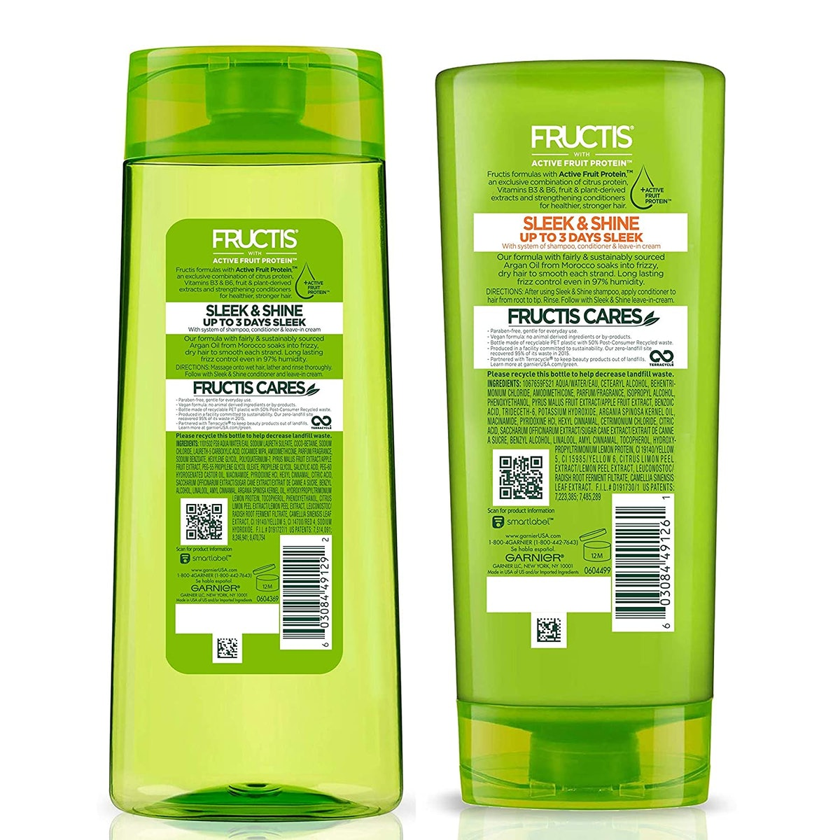 Garnier Fructis Sleek and Shine Shampoo & Conditioner