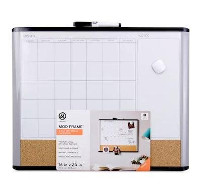 """U Brands 16""""x20"""" MOD Frame 3-in-1 Dry Erase Calendar Board"""