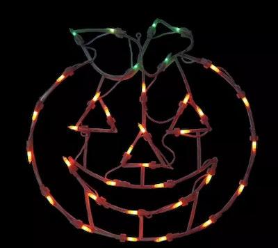 Glowing jack-o-lantern decoration