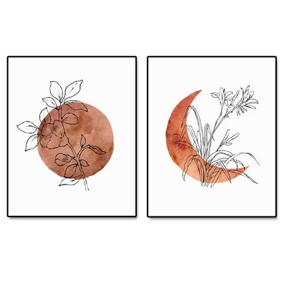 ArtPrint Terracotta Sun and Moon Print
