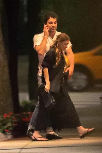 Ashley Olsen with boyfriend Louis Eisner for a dinner date in New York City.