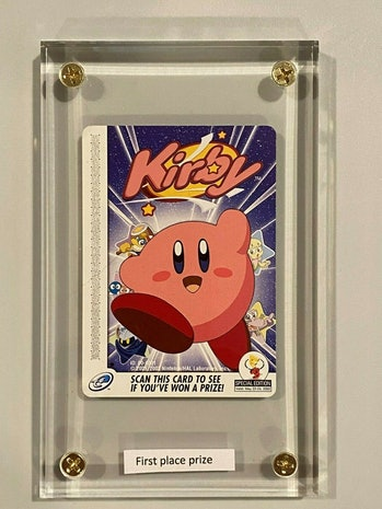 Nintendo e-Reader E3 Kirby promotional card for GameBoy Advance from 2002