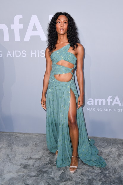 Michaela Jaé Rodriguez attends the amfAR Cannes Gala 2021 during the 74th Annual Cannes Film Festiva...