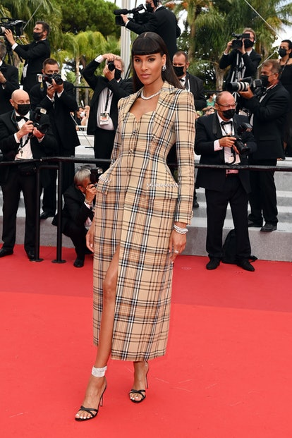 """Cindy Bruna attends the """"Les Intranquilles (The Restless)"""" screening during the 74th annual Cannes Film Festival on July 16, 2021 in Cannes, France."""