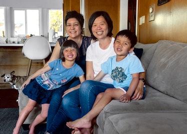 A family photographed by Jamal Jordan