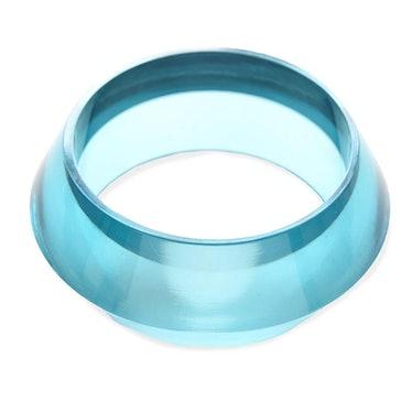 Turquoise Lucite Geometric Bangle