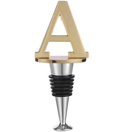 Wine and Beverage Bottle Stopper With Gold Finish
