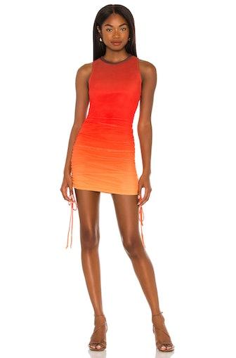 Mesh Cinch Mini Dress