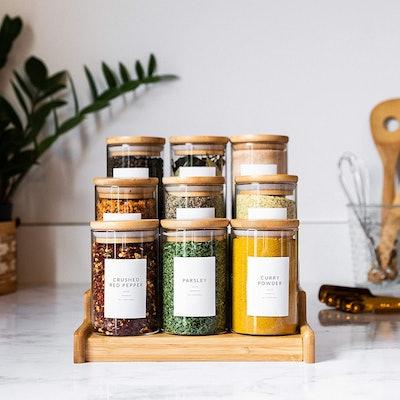 Savvy & Sorted Spice Jar Labels (Pack of 94)