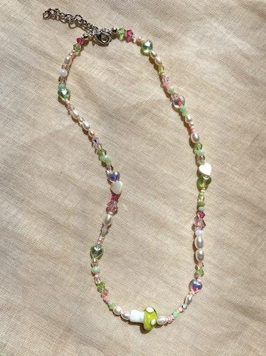 Green Mushroom Necklace