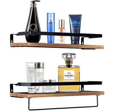 ZANSHI Rustic Wood Floating Shelves (Set of 2)