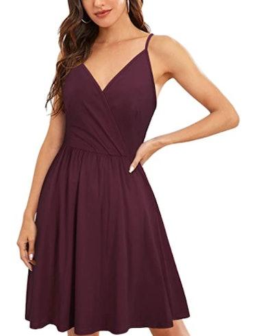 VOTEPRETTY V-Neck Swing Dress