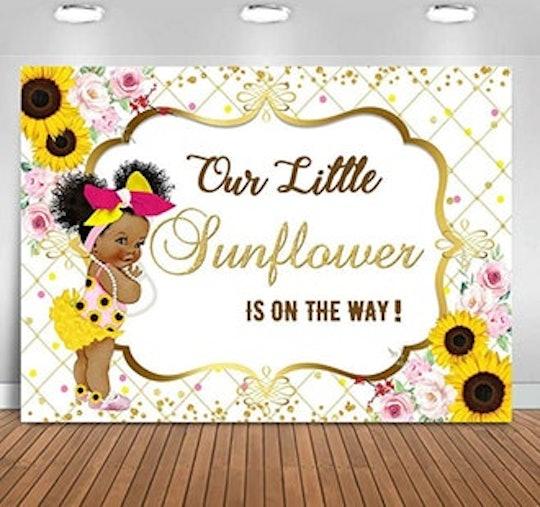 sunflower baby shower backdrop