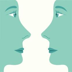 face profiles illustration