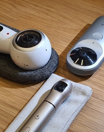 360 camera from Samsung, LG, and Iqui. Photography. Cameras.