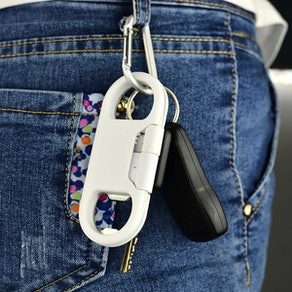 i-Dawn Multifunction Key Chain with iPhone Charging Cable